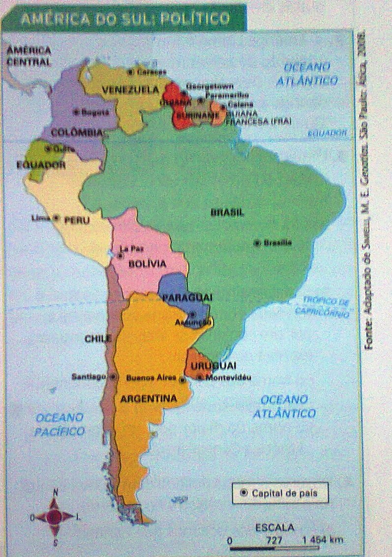 Nome Dos Oceanos Que Banham A Am  Rica Do Sul