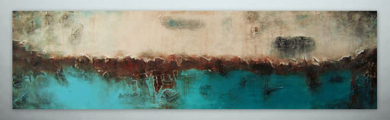 turquoise blue abstract landscape art