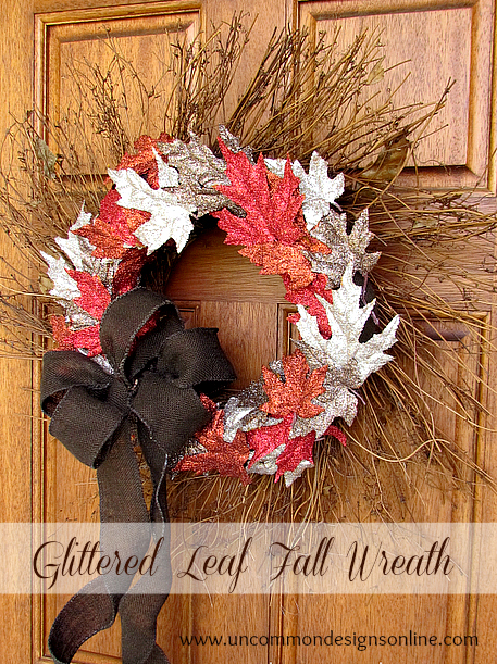 Glittered Fall Leaf Wreath