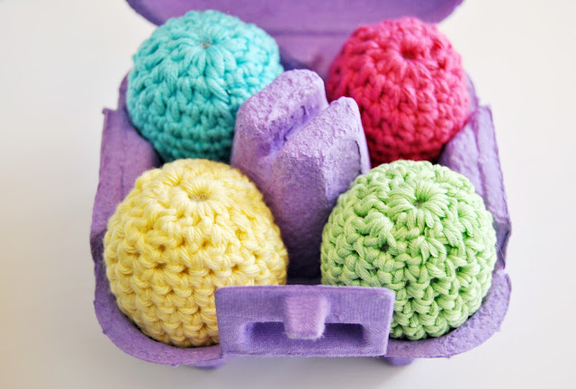 Bright Colourful Crochet Easter Eggs