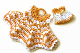 Crochet Pot Holder Little Dress PDF