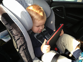 Watching the Kindle in the car