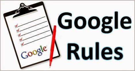 google rules untuk blogger blogspot