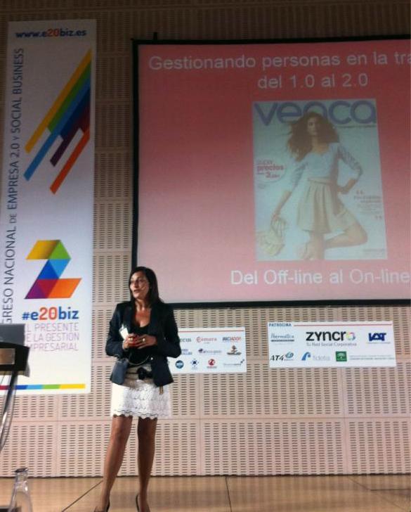 Eva Collado durante su intervención. Foto: E20biz