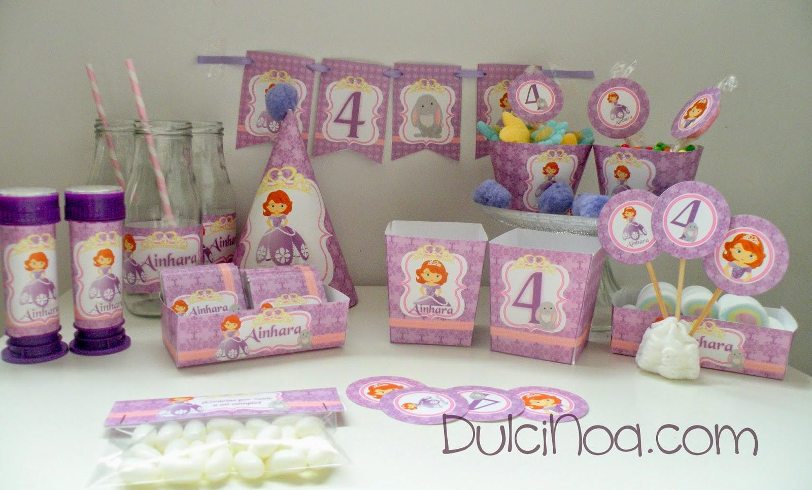 Kit cumpleaños Princesa Sofia