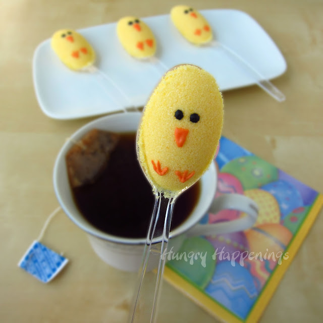 Instead of sugar cubes serve these cute easter chick for Easter craft ideas to sell