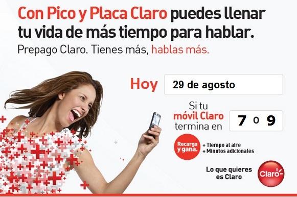placa claro colombia hoy miercoles 29 agosto 2012 hoy es dia pico y
