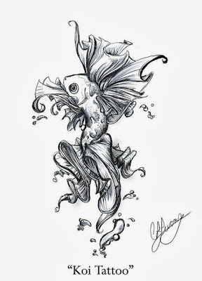 cute koi fish tattoos designs