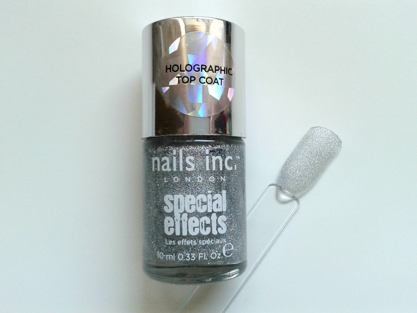 Nails Inc Electric Lane Holographic Top Coat Beauty Review Swatch Nails Inc Nail Polish Diary: September