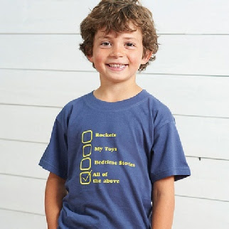 Childrens favourite things t shirts