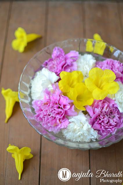 Flower arrangement in Water bowl Photography