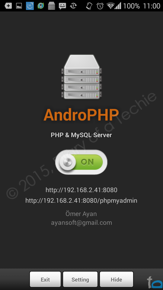 AndroPHP Local PHP Server App for Android