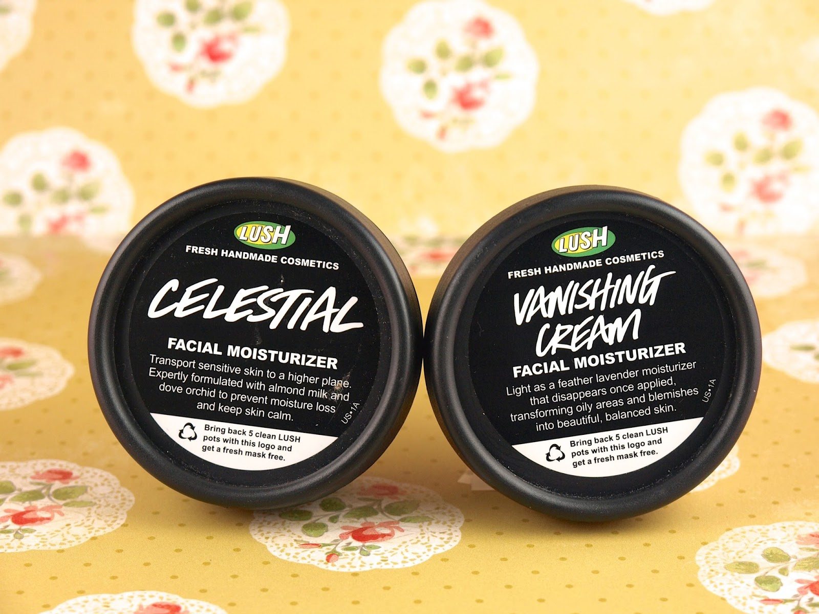 Lush Celestial Facial Moisturizer and Vanishing Cream Facial Moisturizer: Review