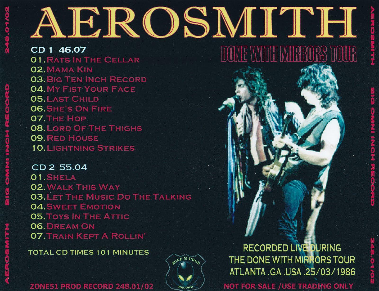 Aerosmith Bootlegs Cover Arts Big Omni Inch Record