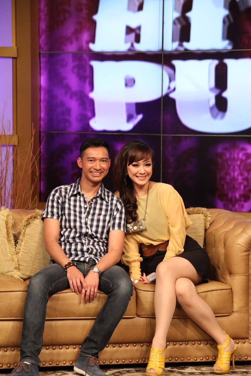 Posing with the gorgeous presenter Yuanita Kristiani