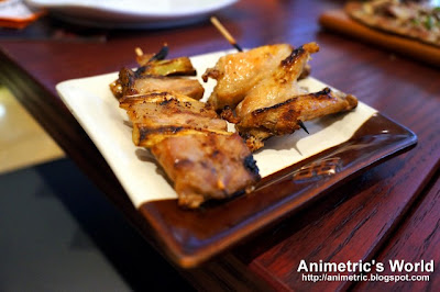 Pork Garlic Yaki and Tebasaki from Nanbantei of Tokyo