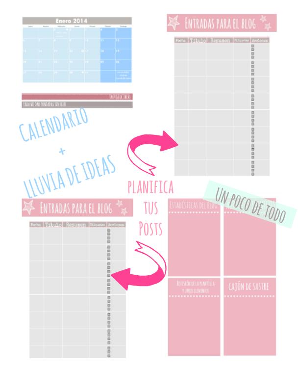 Calendario 2014 , mes por página y con espacio suficiente para hacer