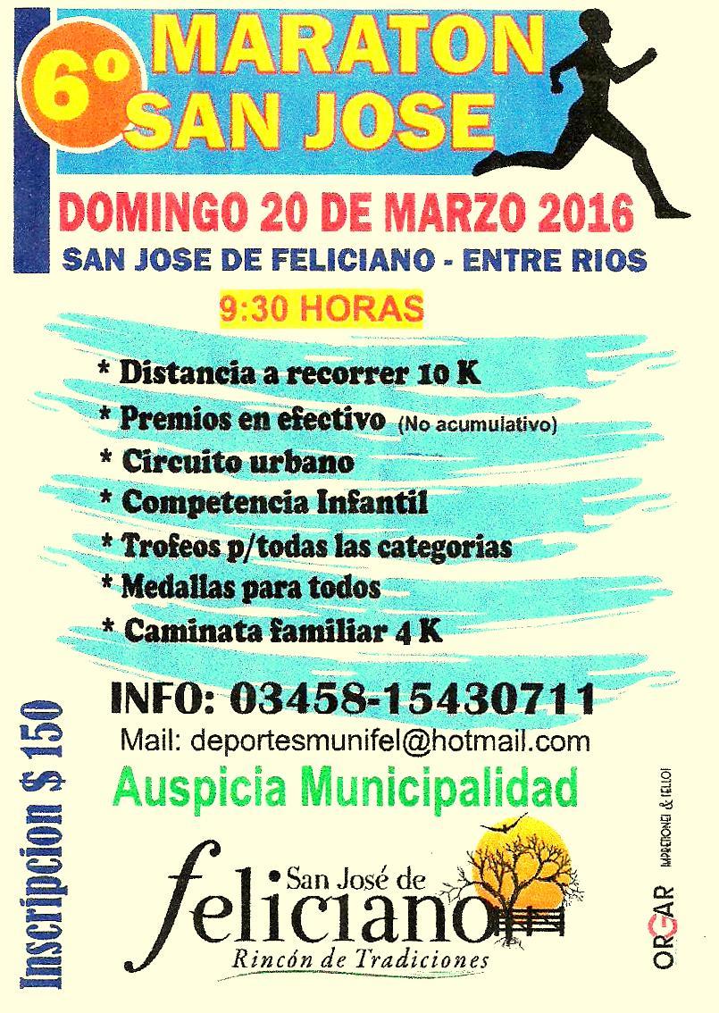 6º Maraton San Jose ( Feliciano Entre Rios)