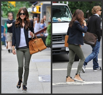 fd1a6e5ba60 Olivia is wearing Lanvin high top sneakers.When I was looking for mine