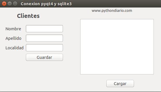 pyqt4 y sqlite3