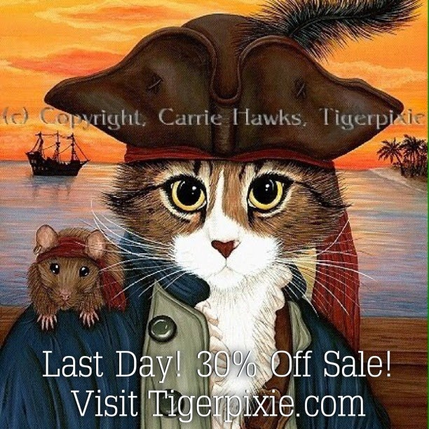 Fantasy Cat Art by Carrie Hawks Tigerpixie.com