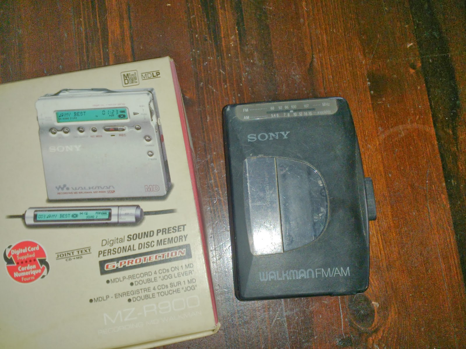 MD player and cassette player