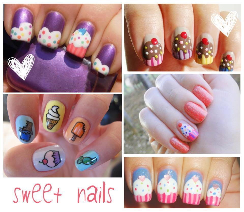 imagenes de divertidas uñas pintadas con helados y postres!