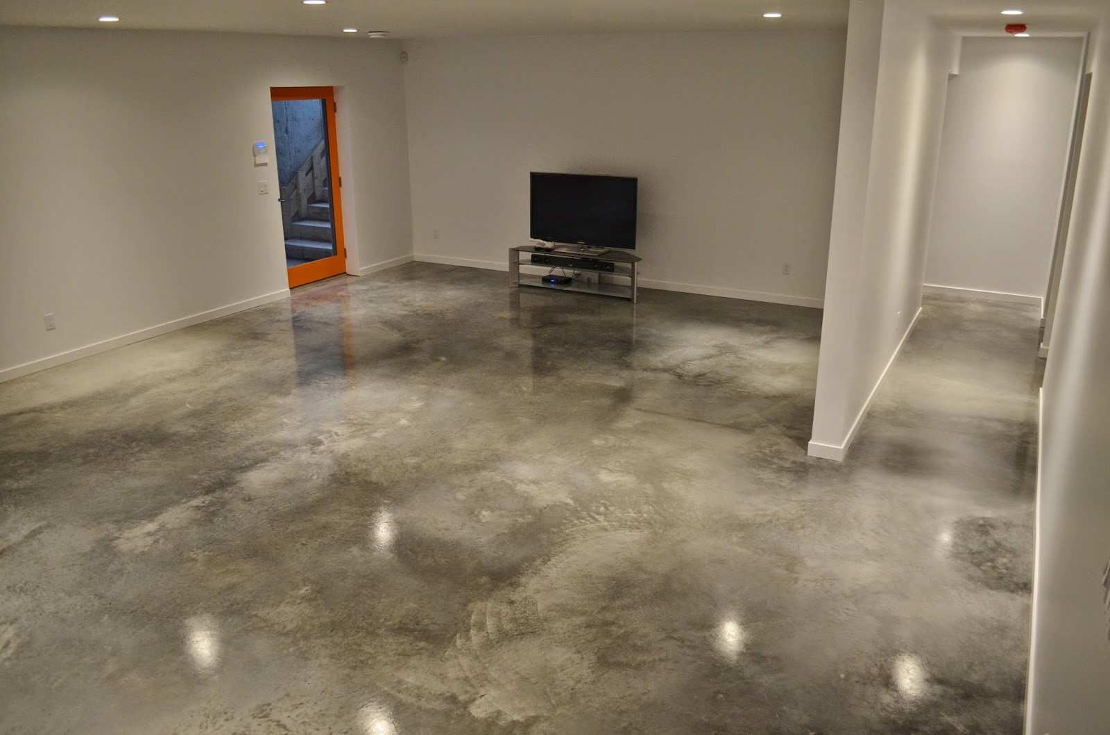 Mode concrete cool and modern concrete floors by mode for Concrete floors in house