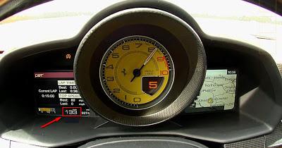 Top Gear - Ferrari 458 Italia - strumentazione di bordo