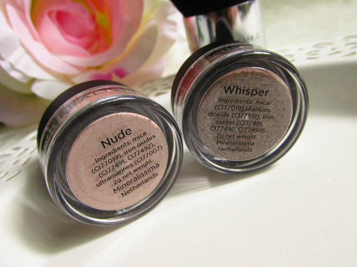 Mineralissima Eyeshadows in Nude & Whisper