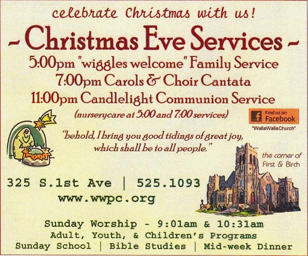 Church christmas programs - Christmas Eve 2014