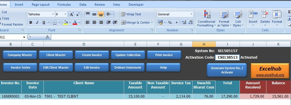 Excel Invoice Template Invoice Template In Excel - Utility invoice template
