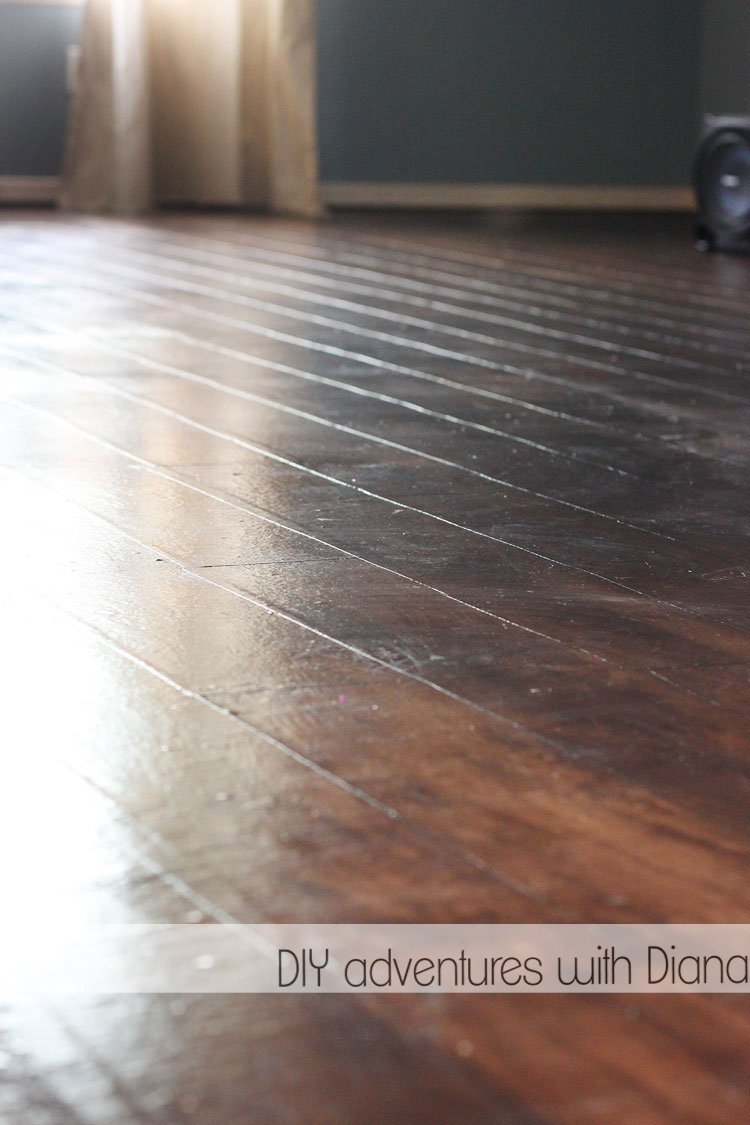 Diy adventures with diana paper floor for Simulated wood flooring