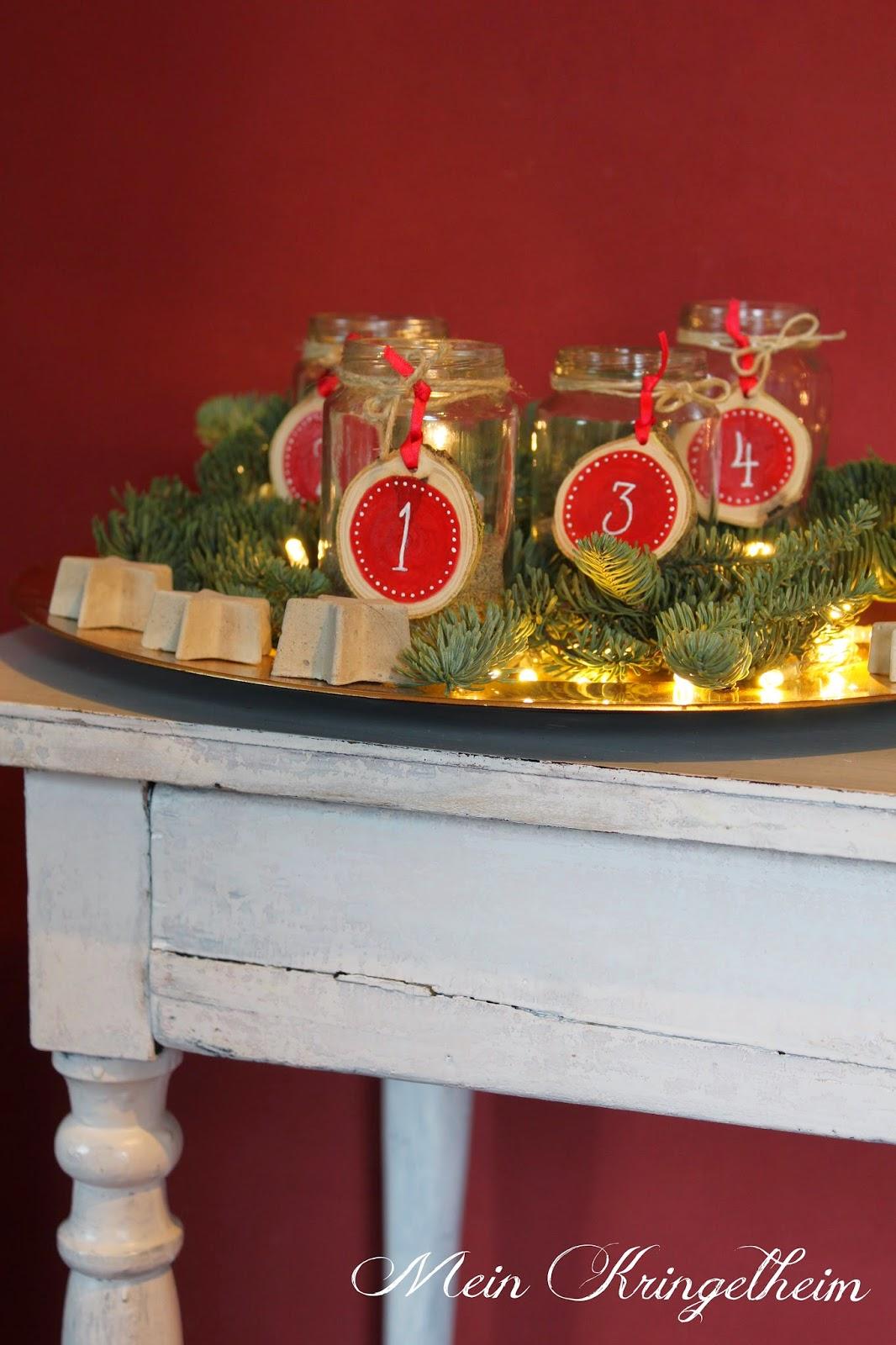 Mein kringelheim adventskranz oder eher advents gl ser teller - Glaser dekorieren mit sand ...