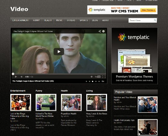 Free WordPress Theme for Video