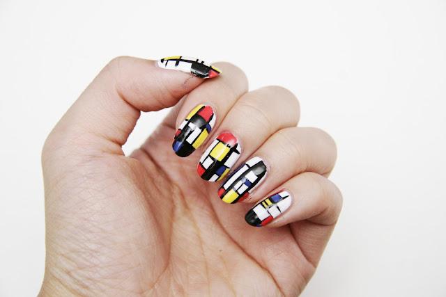 Fun size beauty manimonday piet mondrian nail art ii prinsesfo Images