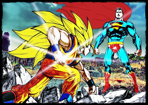 Shapescapes: What I think About Stuff-Superman Vs Son Goku Goku Vs Superman Science
