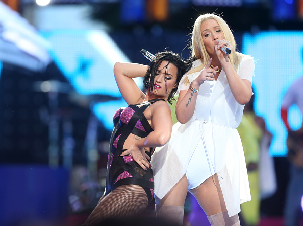 Iggy Azalea & Demi Lovato on Stage