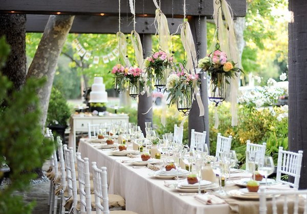 Wedding decorations country wedding decoration ideas for Outdoor dinner party decorating ideas