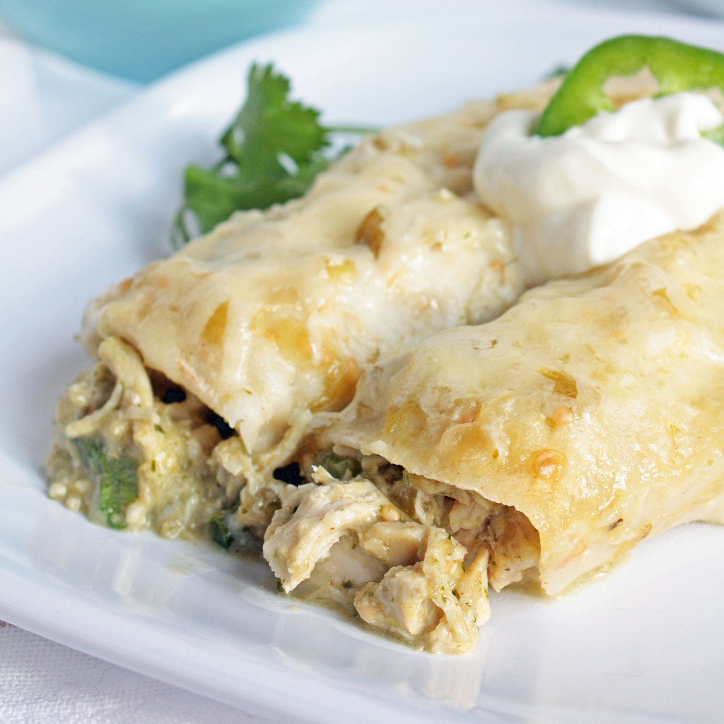 Green Chicken Enchiladas (Gluten Free) - I Breathe... I'm ...