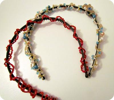 DIY Beaded Headband, Make your own headband, DIY Hair accessories