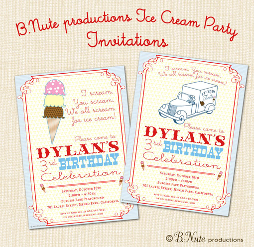 bnute productions i scream you scream new ice cream invitation. Black Bedroom Furniture Sets. Home Design Ideas