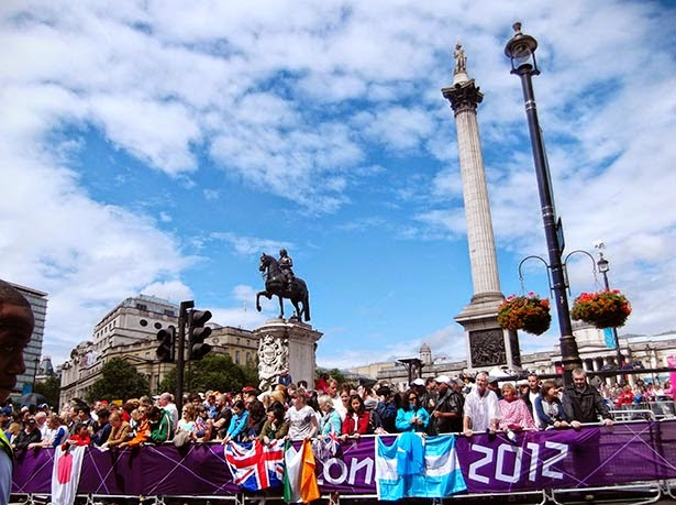 Women's marathon in Trafalgar Square at the London 2012 Olympic Games