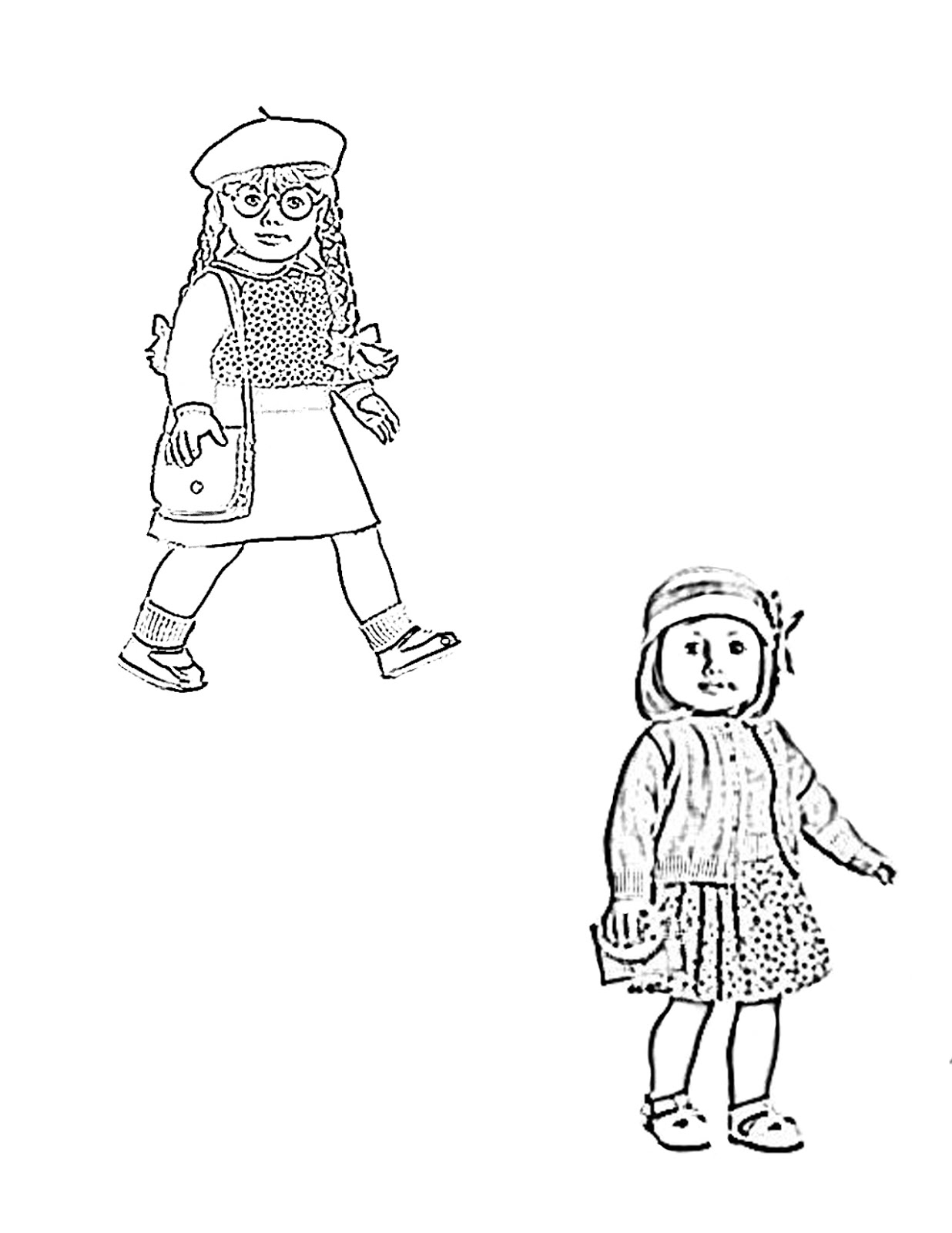 My Cup Overflows Kit Kittredge An American Girl American Doll Coloring Pages
