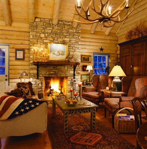 Beyond the aisle home envy log cabin interiors for Log homes interior designs