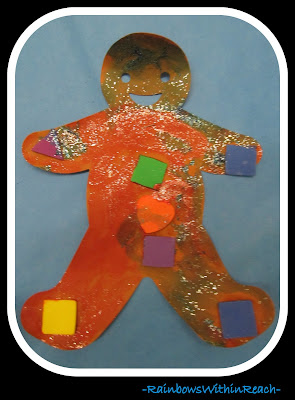 photo of: Gingerbread Art Project with Glitter via RainbowsWithinReach