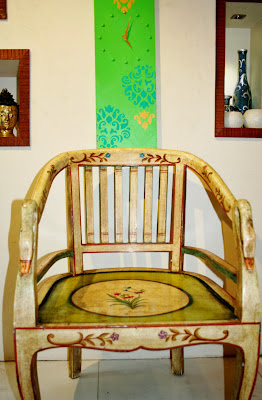 The Keybunch,painted arty chair by serenity