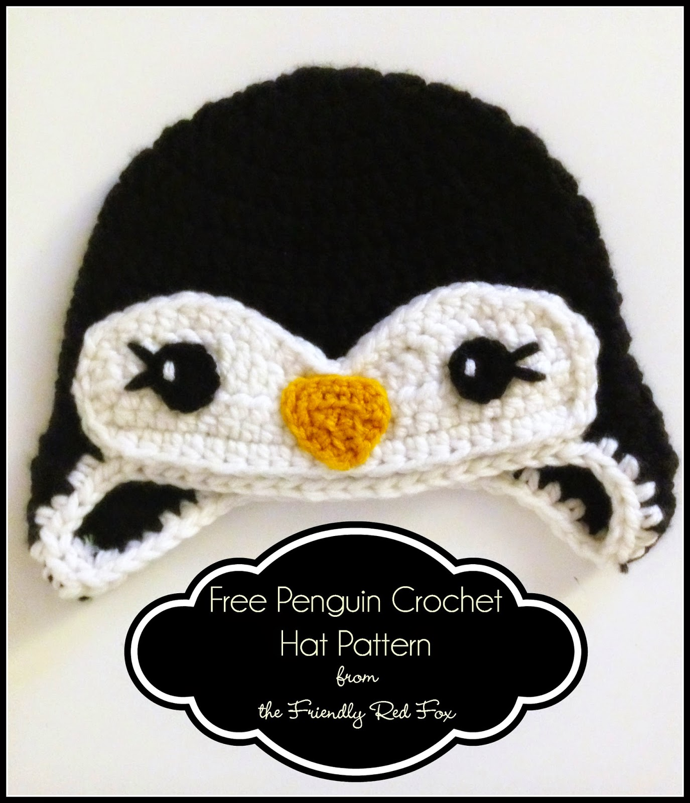 Crochet Pattern Free Penguin : Free Penguin Crochet Hat Pattern - The Friendly Red Fox