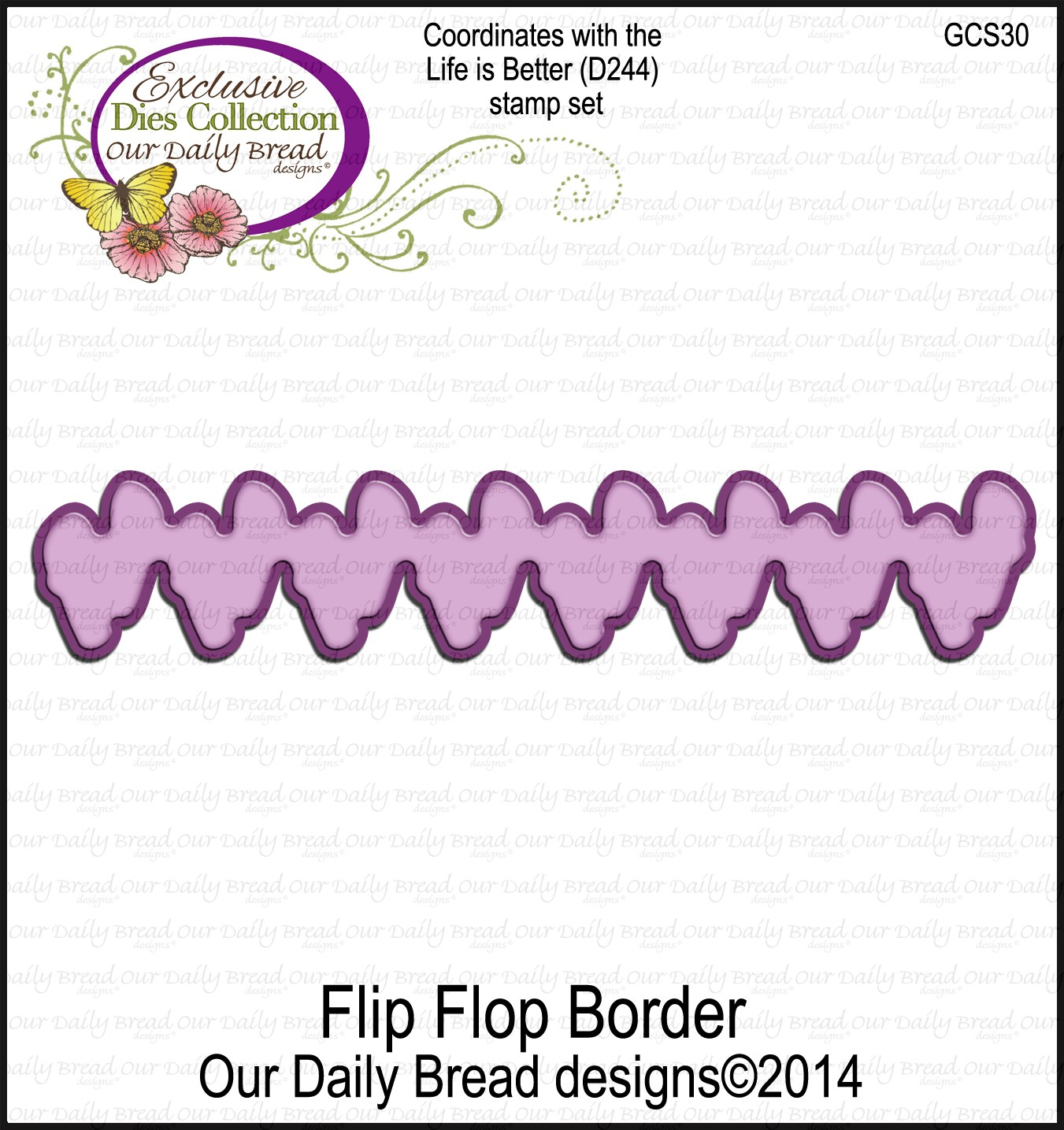 Our Daily Bread Designs Custom Flip Flop Border Die