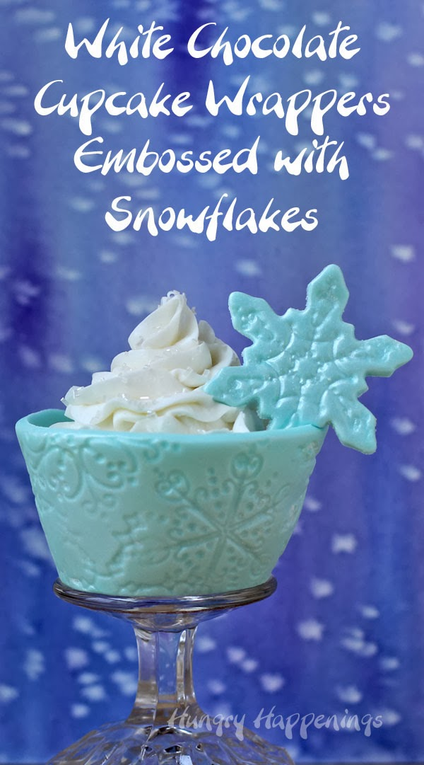 Shimmering Snowflake Edible Cupcake Wrappers | HungryHappenings.com
